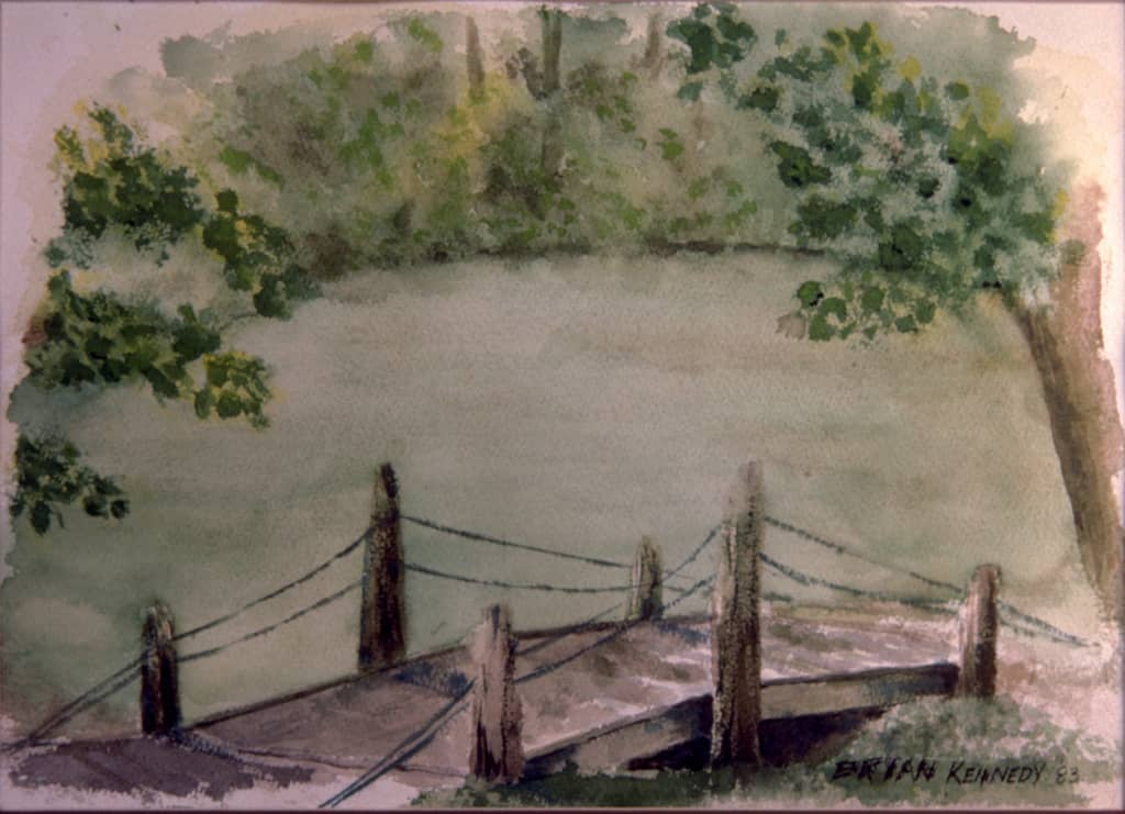 Foot Bridge Watercolor