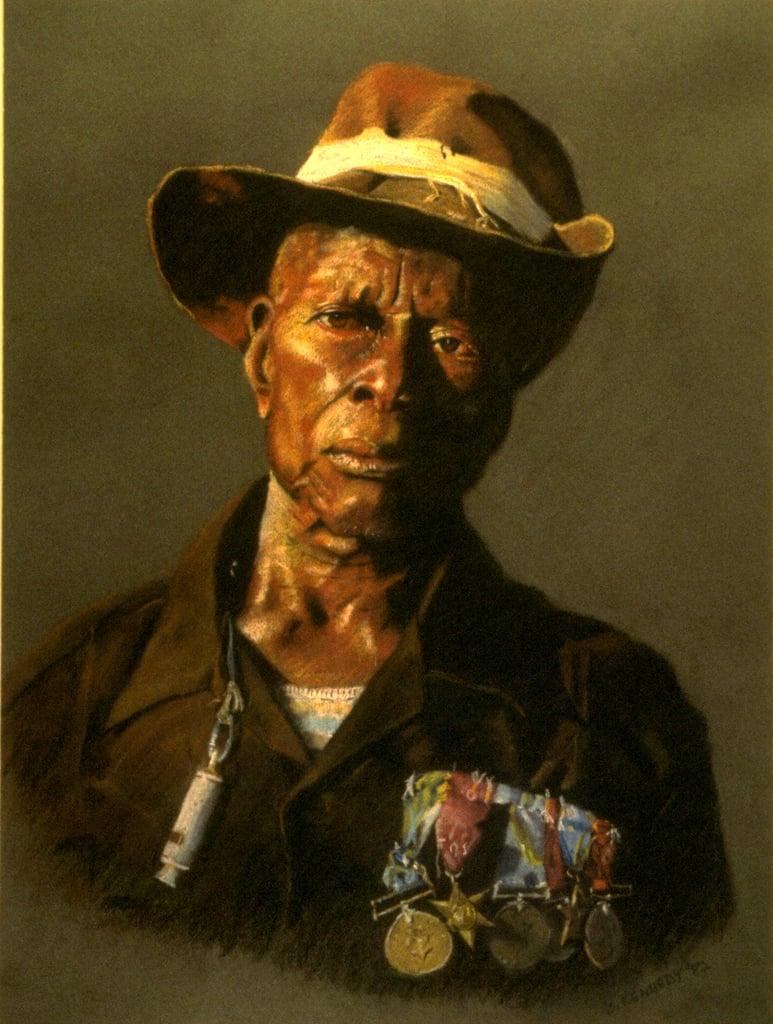 African General Pastel Portrait
